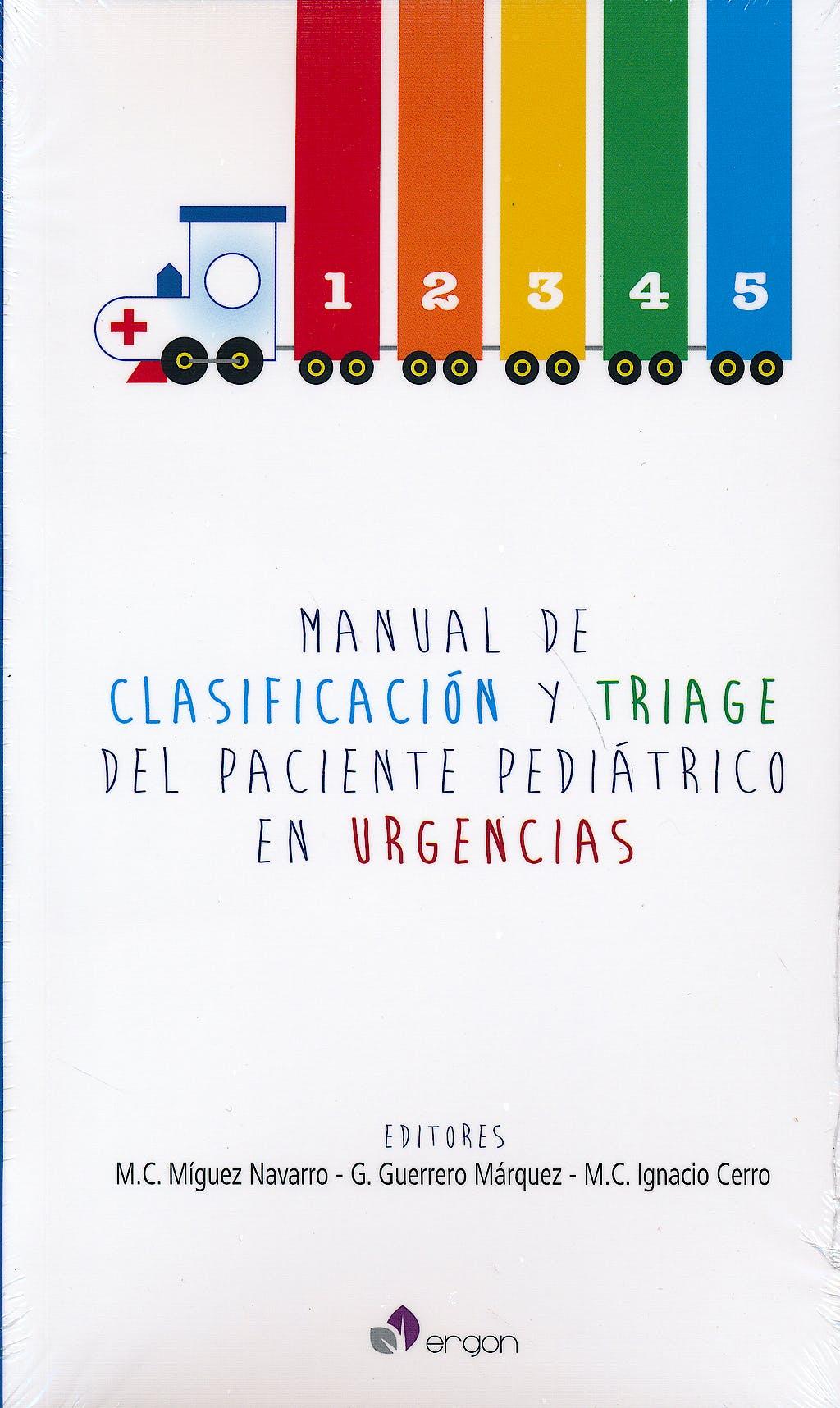 Portada del libro 9788415950806 Manual de Clasificación y Triage del Paciente Pediátrico en Urgencias