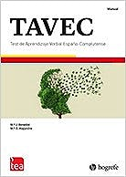 Portada del libro 9788416231003 TAVEC Test de Aprendizaje Verbal España-Complutense. Juego Completo: Manual y 25 Ejemplares