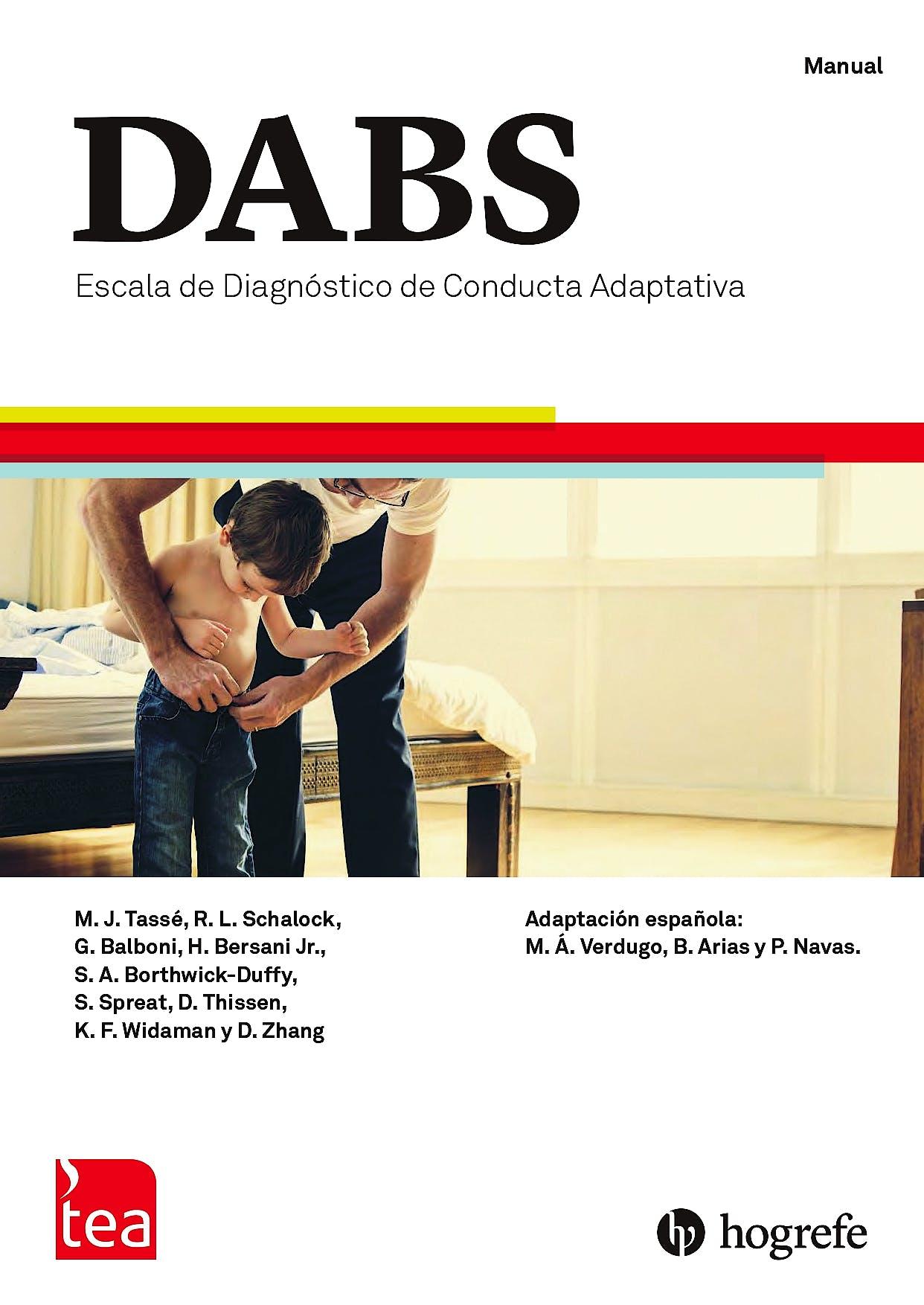 Portada del libro 9788416231997 DABS. Escala de Diagnóstico de Conducta Adaptativa. Juego Completo (Manual, 10 Ejemplares de Cada Tipo, PIN de Corrección 30 usos)