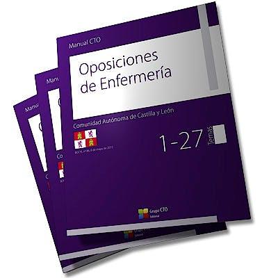 Portada del libro 9788416403806 Manual CTO Oposiciones de Enfermería Comunidad Autonoma de Castilla y León, 3 Vols.