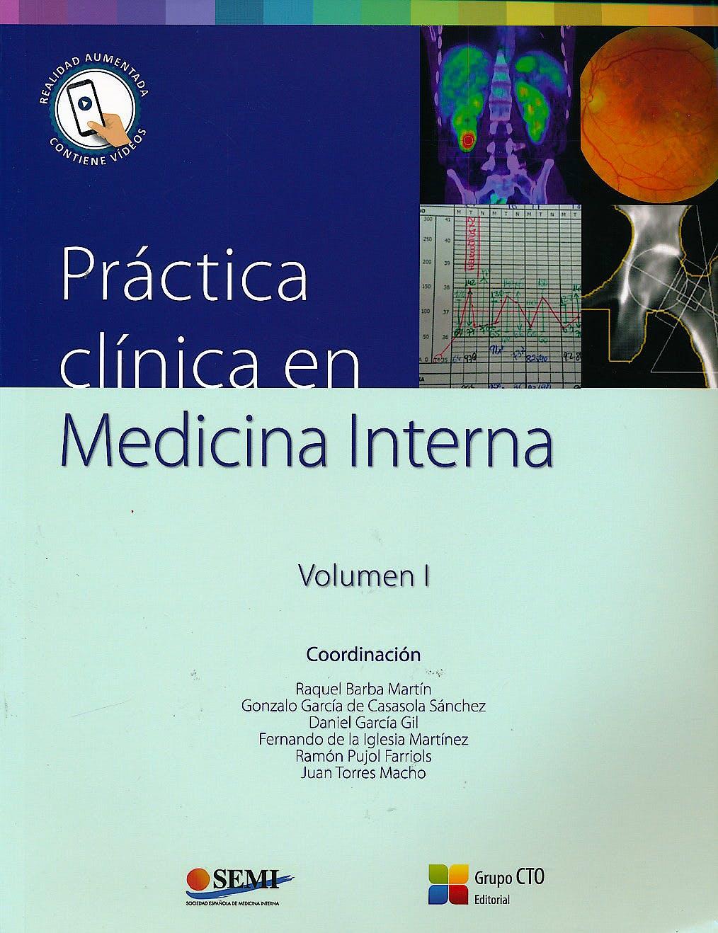 Portada del libro 9788416527526 Práctica Clínica en Medicina Interna' 2 Vols.