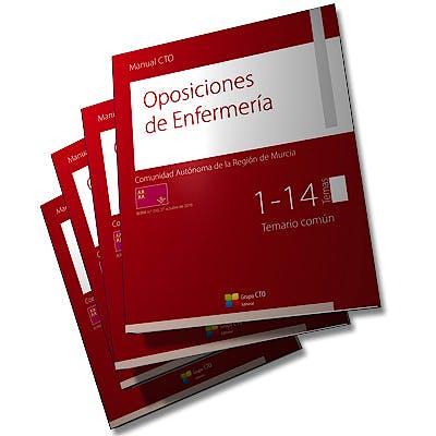 Portada del libro 9788416706990 Manual CTO Oposiciones de Enfermería Comunidad Autónoma de la Región de Murcia, 4 Vols.