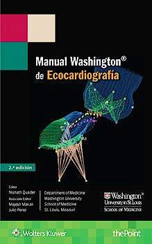 Portada del libro 9788416781225 Manual Washington de Ecocardiografía