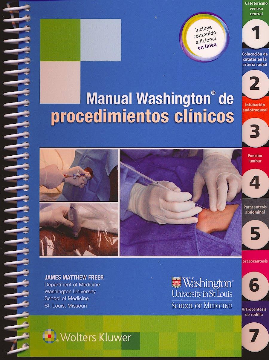 Portada del libro 9788416781256 Manual Washington de Procedimientos Clínicos + Acceso Online