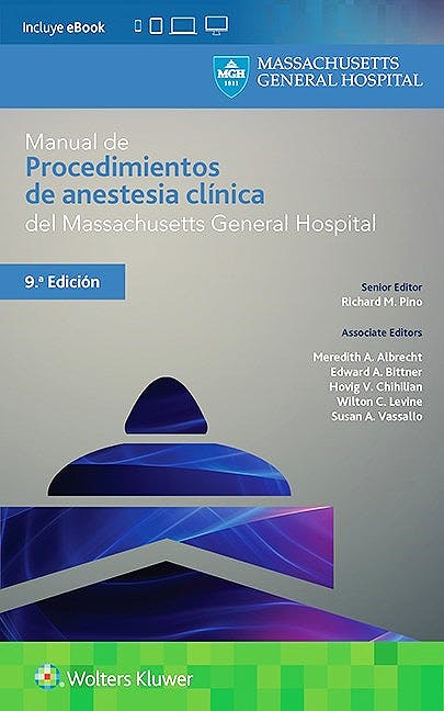 Portada del libro 9788416781904 Manual de Procedimientos de Anestesia Clínica del Massachusetts General Hospital