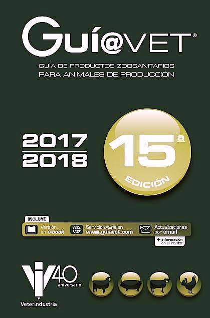 Portada del libro 9788416818914 GUÍ@VET. Guía de Productos Zoosanitarios para Animales de Producción 2017-2018 (Actualizaciones por e-mail)