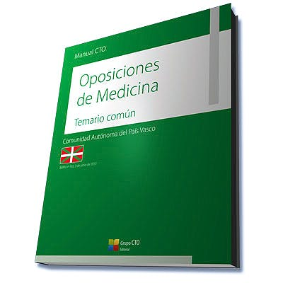 Portada del libro 9788416932214 Manual CTO Oposiciones de Medicina Comunidad Autónoma del País Vasco. Temario Común