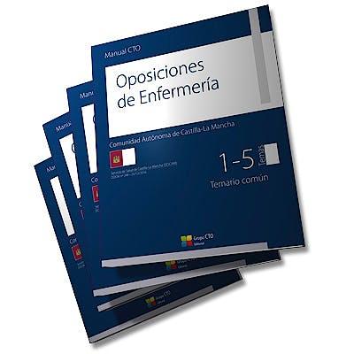 Portada del libro 9788416932306 Manual CTO Oposiciones de Enfermería Comunidad Autónoma de Castilla-La Mancha, 4 Vols.