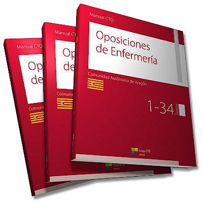Portada del libro 9788416932900 Manual CTO Oposiciones de Enfermería Comunidad Autonóma de Aragón, 4 Vols.