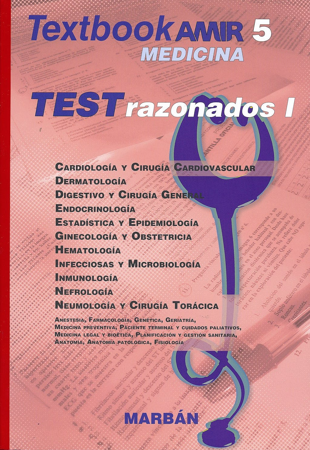 Portada del libro 9788417184292 Textbook AMIR Medicina, Vol. 5: Tests Razonados I