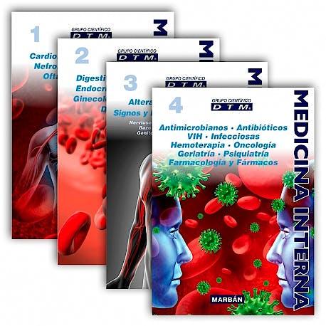 Portada del libro 9788417184612 Medicina Interna DTM Manual, 4 Vols. (Flexilibro)