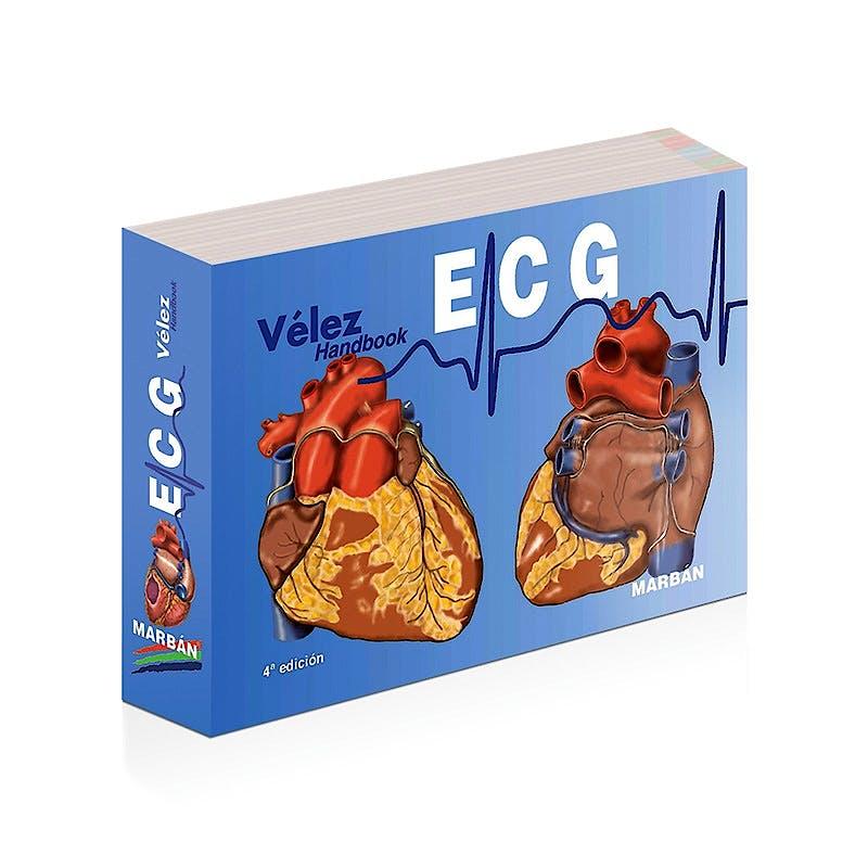 Portada del libro 9788417184988 Vélez ECG Handbook Electrocardiografía