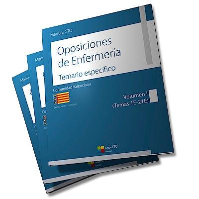 Portada del libro 9788417311179 Manual CTO Oposiciones de Enfermería Comunidad Autónoma de Valencia, 3 Vols.