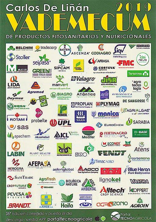 Portada del libro 9788417596002 Vademécum de Productos Fitosanitarios y Nutricionales 2019