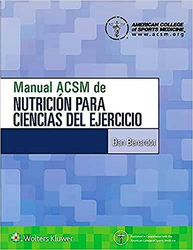 Portada del libro 9788417602628 Manual ACSM de Nutrición para Ciencias del Ejercicio
