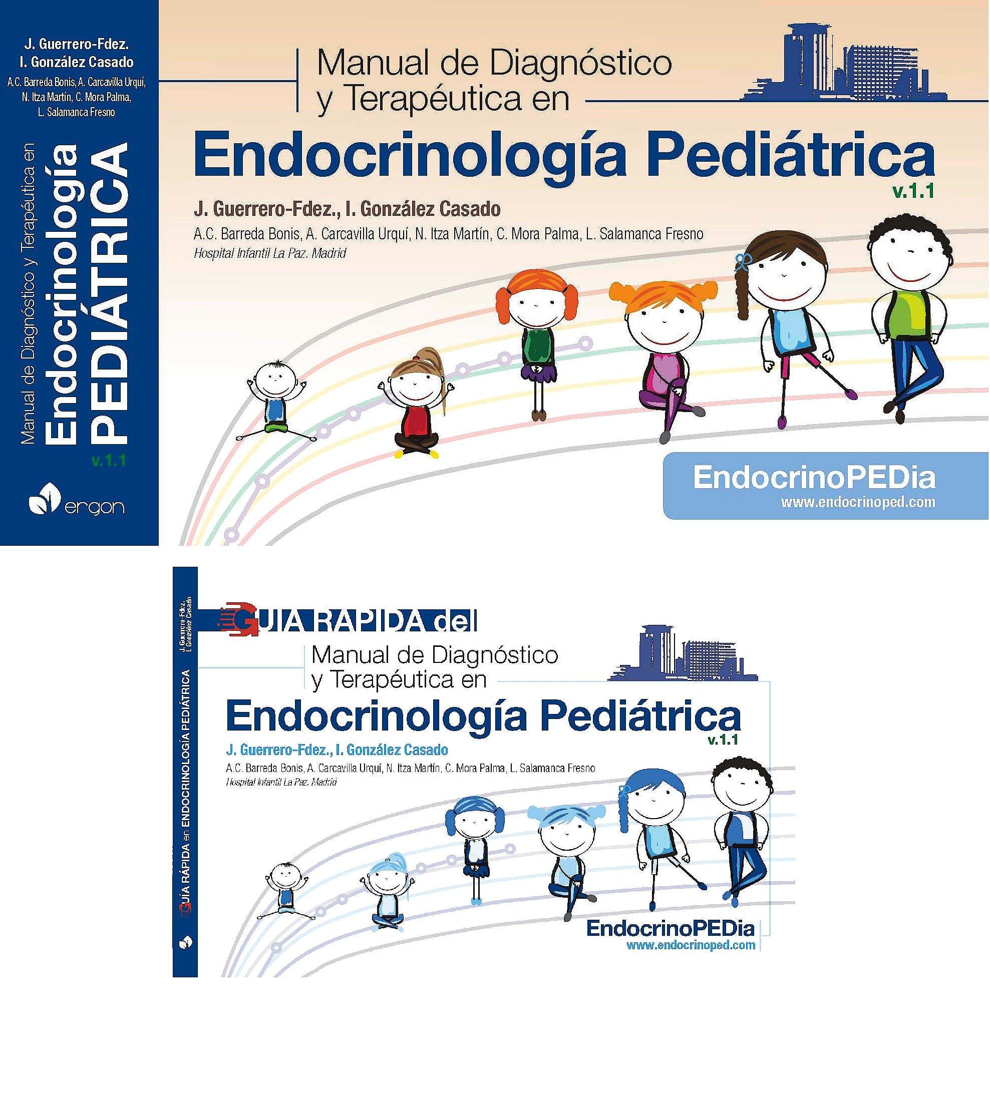 Portada del libro 9788417844691 Manual de Diagnóstico y Terapéutica en Endocrinología Pediátrica v.1.1 + Guía Rápida v.1.1