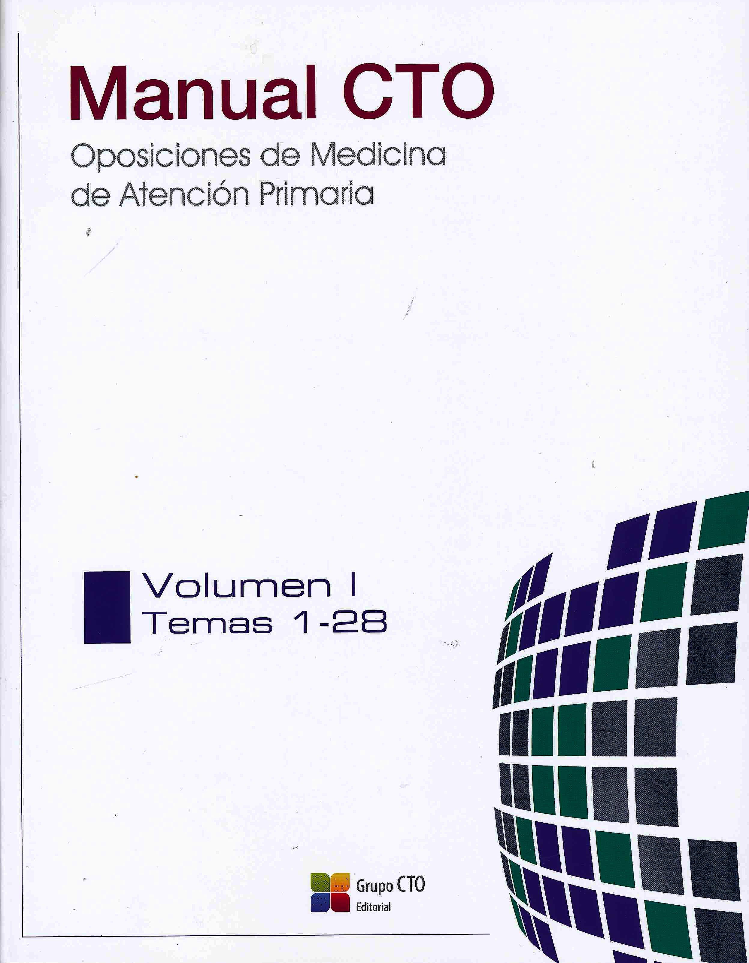 Portada del libro 9788417861056 Manual CTO Atención Primaria. Preparación de Oposiciones, 4 Vols.