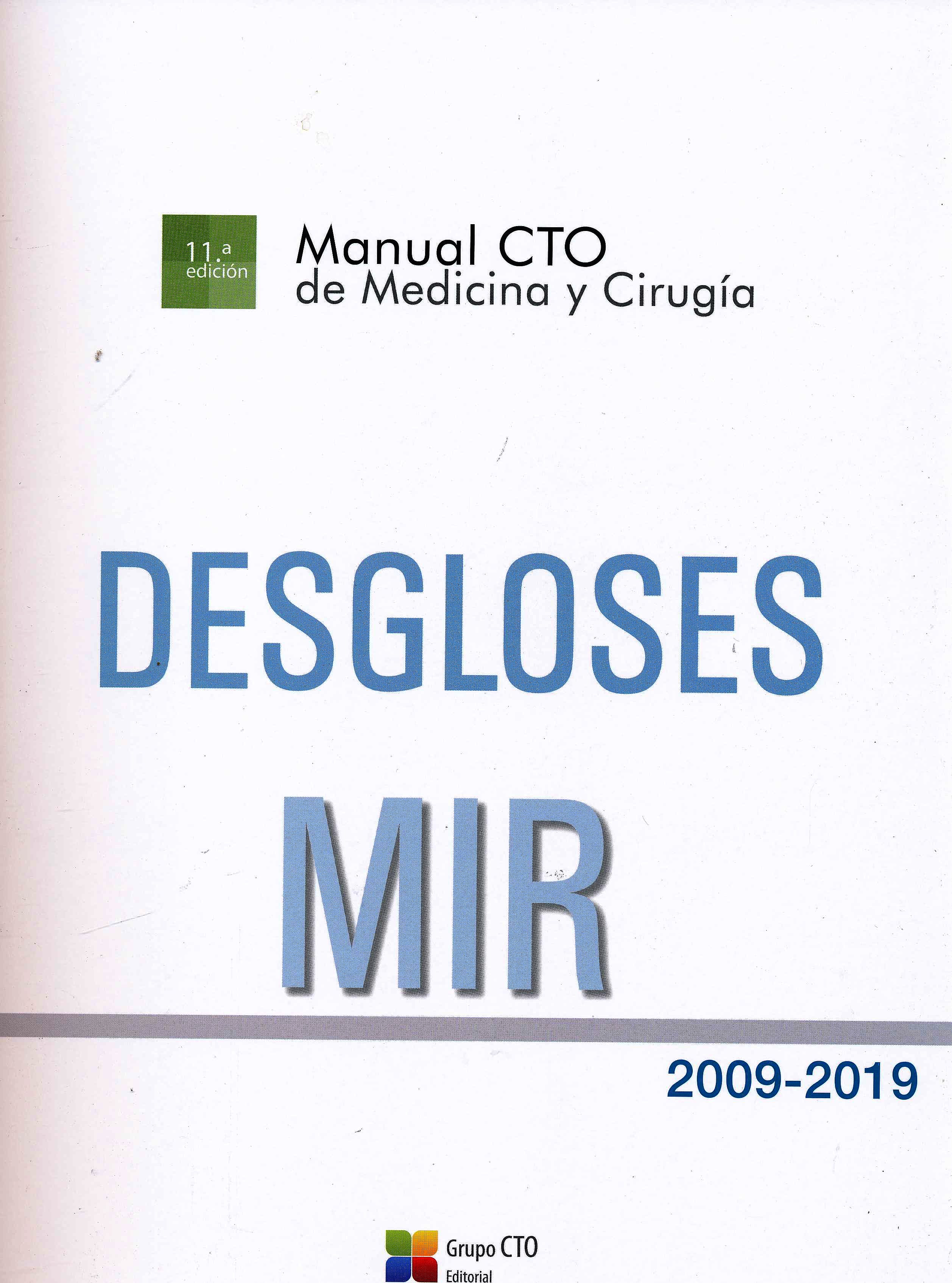 Portada del libro 9788417861810 Desgloses MIR 2009-2019
