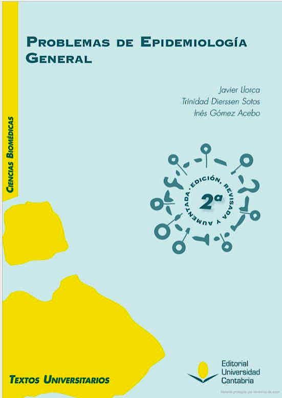 Portada del libro 9788417888381 Problemas de Epidemiología General