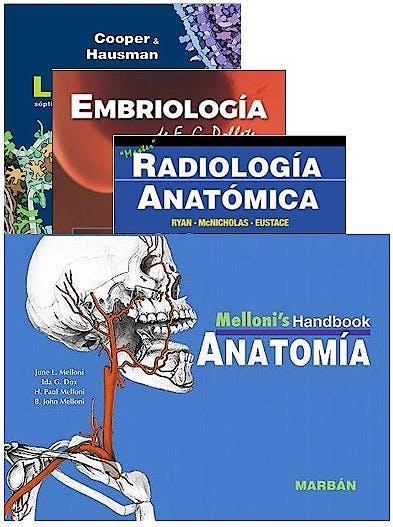 Portada del libro 9788418068133 Lote La Célula + Embriología de E.G. Poblete + Radiología Anatómica + Melloni's Handbook Anatomía (Pack Handbook Estudiantes)