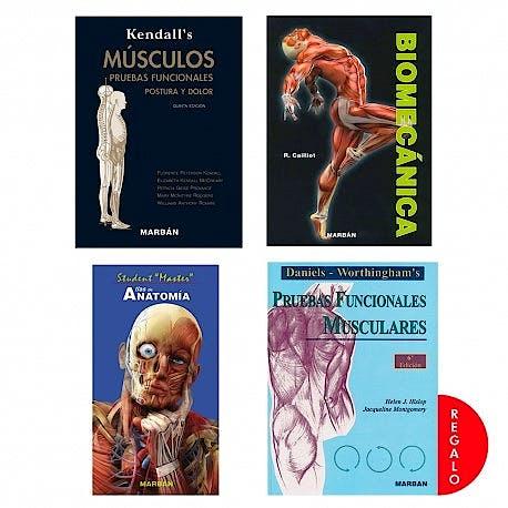 Portada del libro 9788418068225 FisioPack Kendall's + Cailliet + Student Master + Daniel's