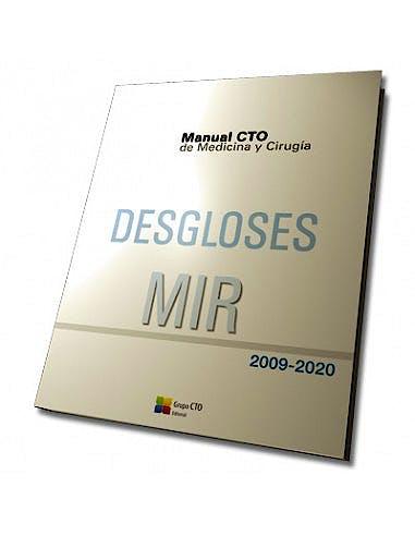 Portada del libro 9788418099878 Manual CTO de Medicina y Cirugía Desgloses MIR 2009-2020