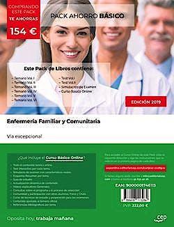 Portada del libro 9788418113284 Pack Ahorro Enfermería Familiar y Comunitaria. Vía Excepcional (Incluye Temario Vols. 1 a 6 + Simulacros de Examen + Curso Básico Online)