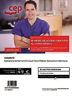 Portada del libro 9788418543173 Pack de Libros + Curso Básico. Celador/a. Conselleria de Sanitat Universal i Salut Pública. Generalitat Valenciana