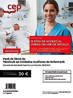 Portada del libro 9788418543449 Pack de Libros. Técnico/a en Cuidados Auxiliares de Enfermería. Servicio de Salud de Castilla-La Mancha. Sescam (5 Vols)