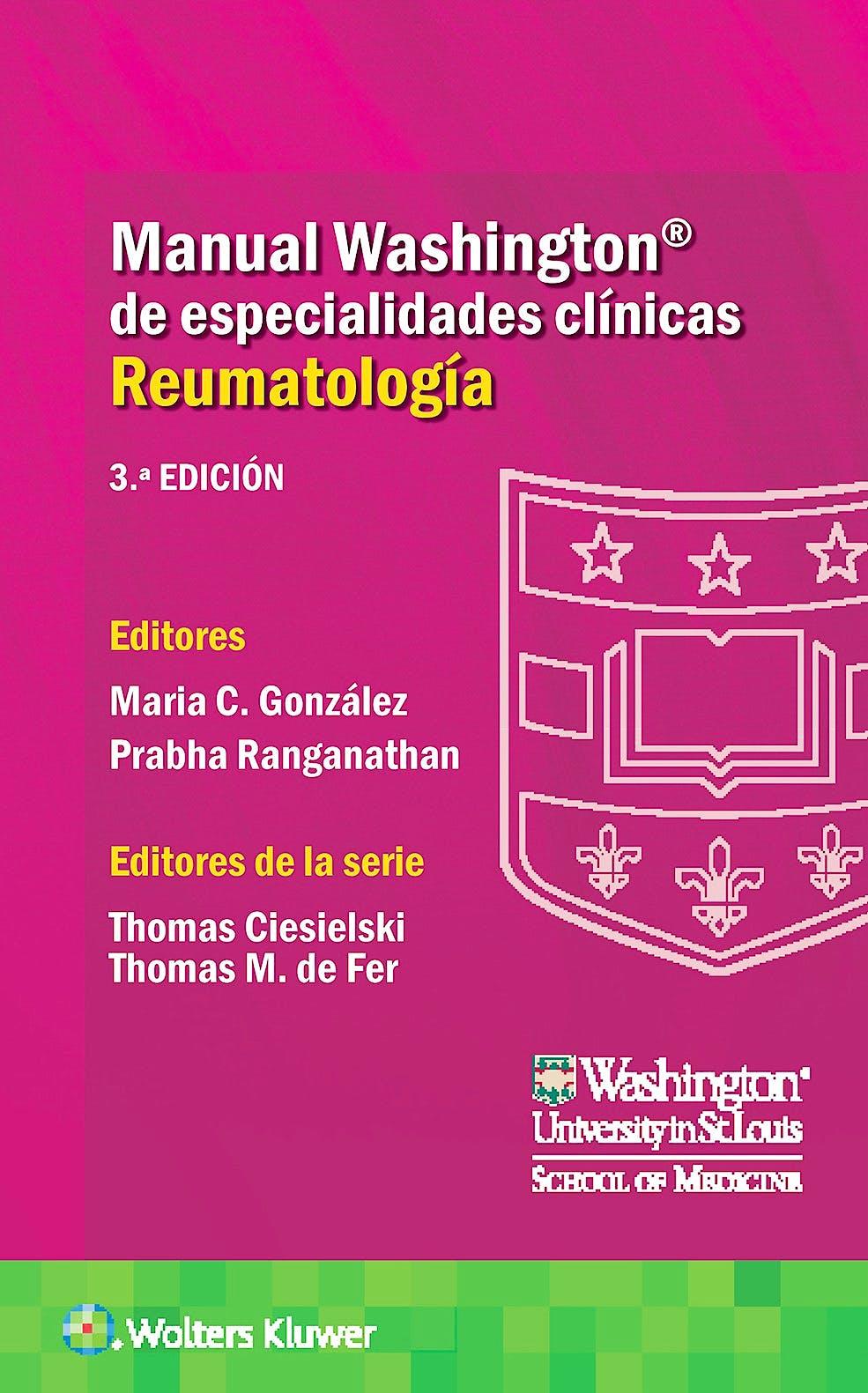 Portada del libro 9788418563133 Manual Washington de Especialidades Clínicas. Reumatología