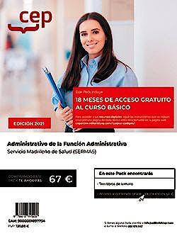 Portada del libro 9788418815409 Pack Teórico + Curso Básico. Administrativo de la Función Administrativa. Servicio Madrileño de Salud (SERMAS)
