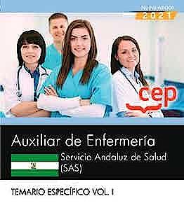 Portada del libro 9788418815850 Auxiliar de Enfermería. Servicio Andaluz de Salud (SAS). Temario y Test Común