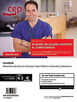 Portada del libro 9788418957529 Pack Teórico + Curso Básico. Celador/a. Conselleria de Sanitat Universal I Salut Pública. Generalitat Valenciana