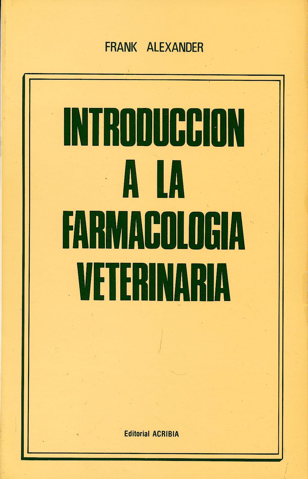 Portada del libro 9788420004303 Introducción a la Farmacología Veterinaria