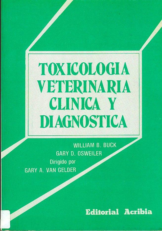 Portada del libro 9788420004815 Toxicologia Veterinaria Clinica y Diagnostica