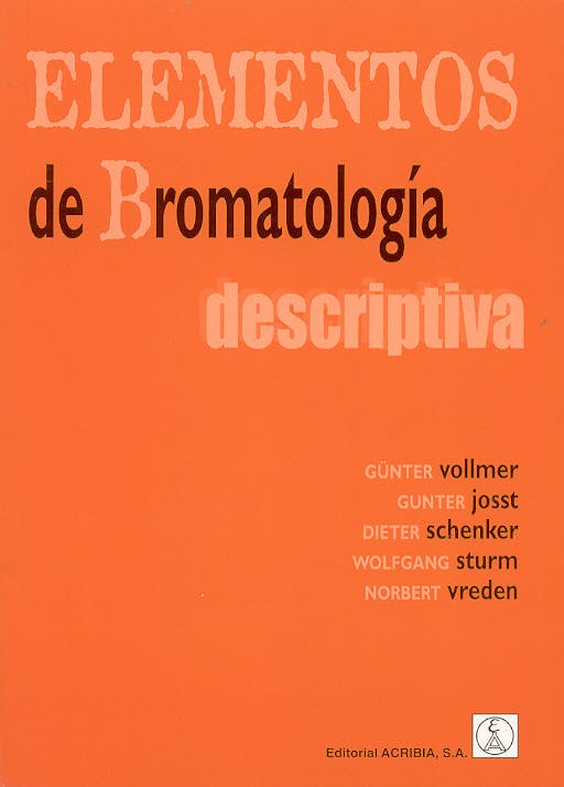 Portada del libro 9788420008776 Elementos de Bromatologia Descriptiva