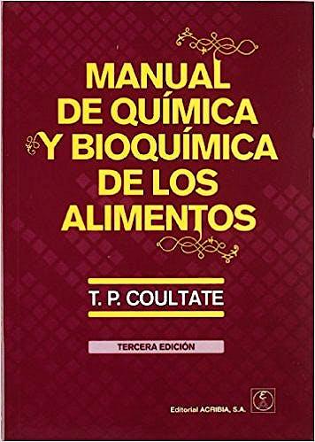 Portada del libro 9788420010892 Manual de Química y Bioquímica de los Alimentos