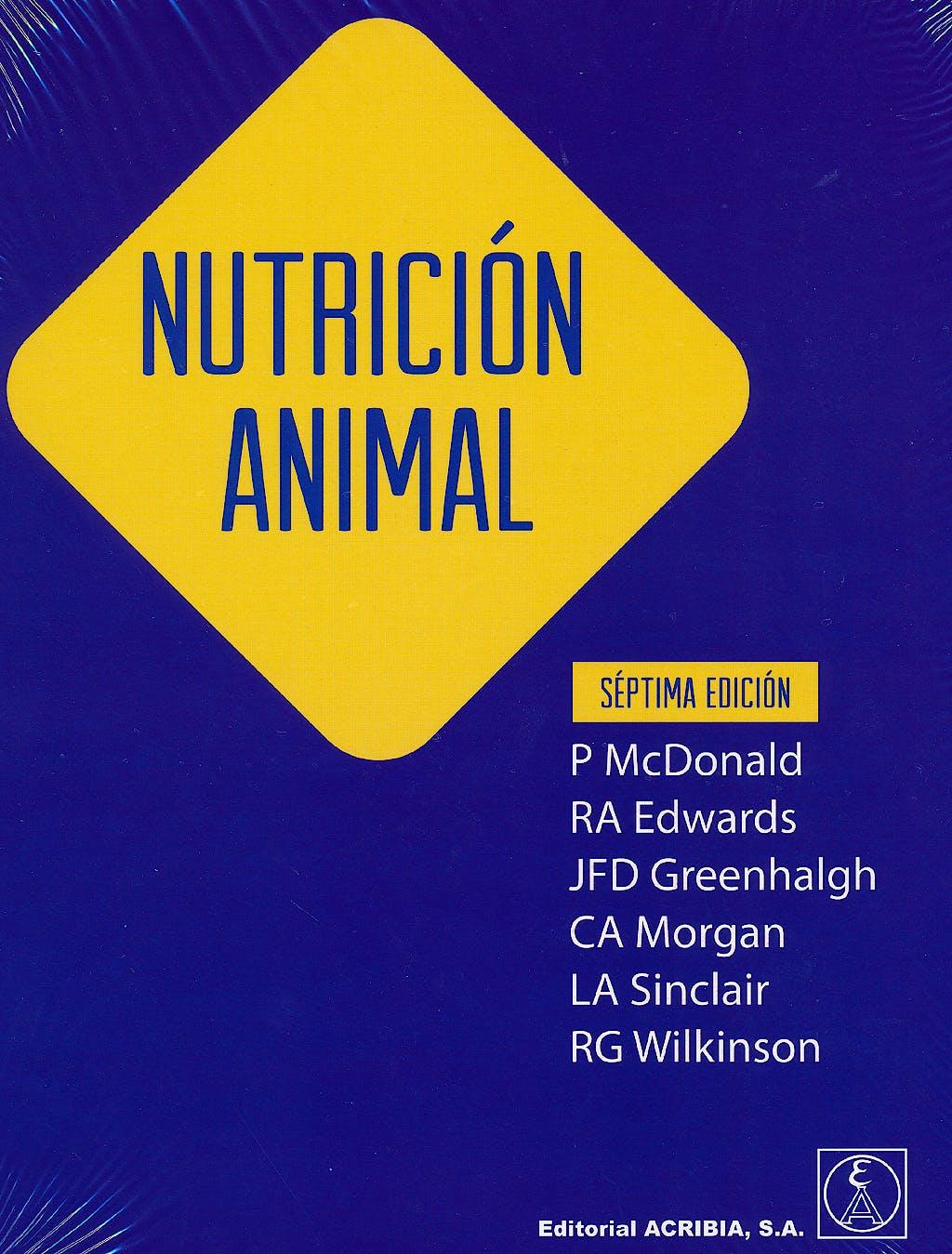 Portada del libro 9788420011691 Nutricion Animal