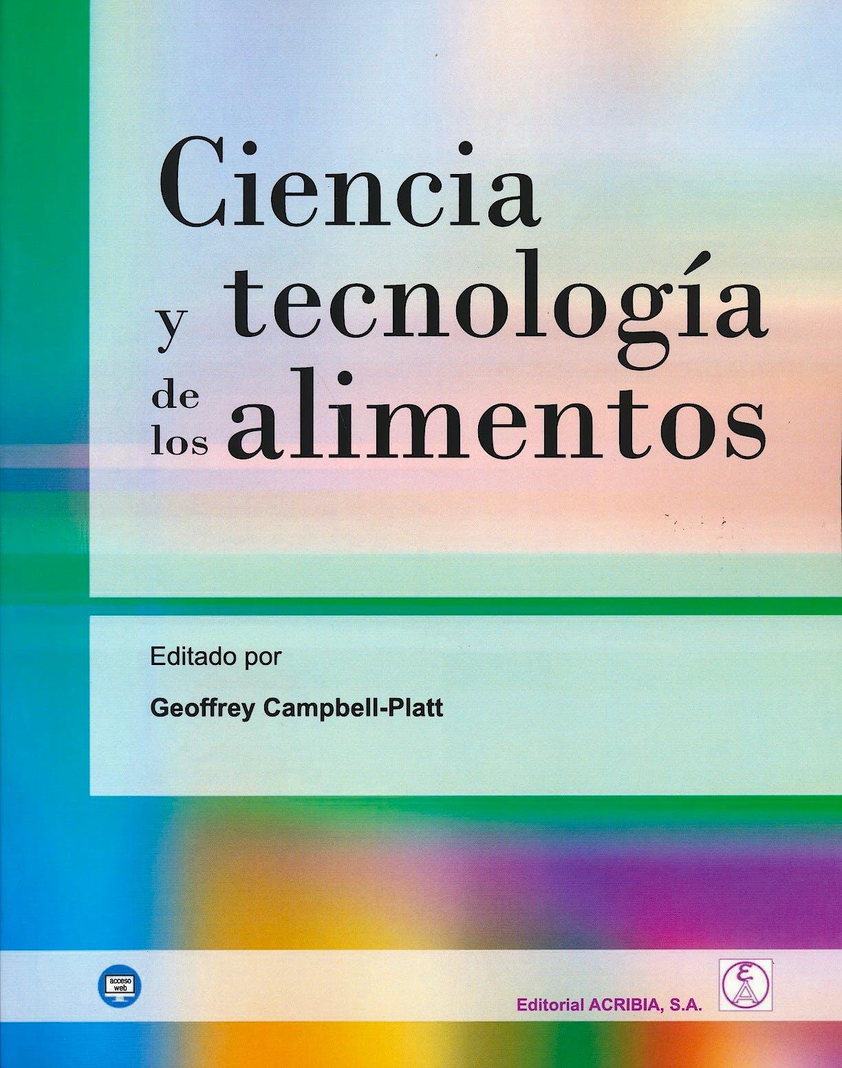 Portada del libro 9788420011769 Ciencia y Tecnología de los Alimentos
