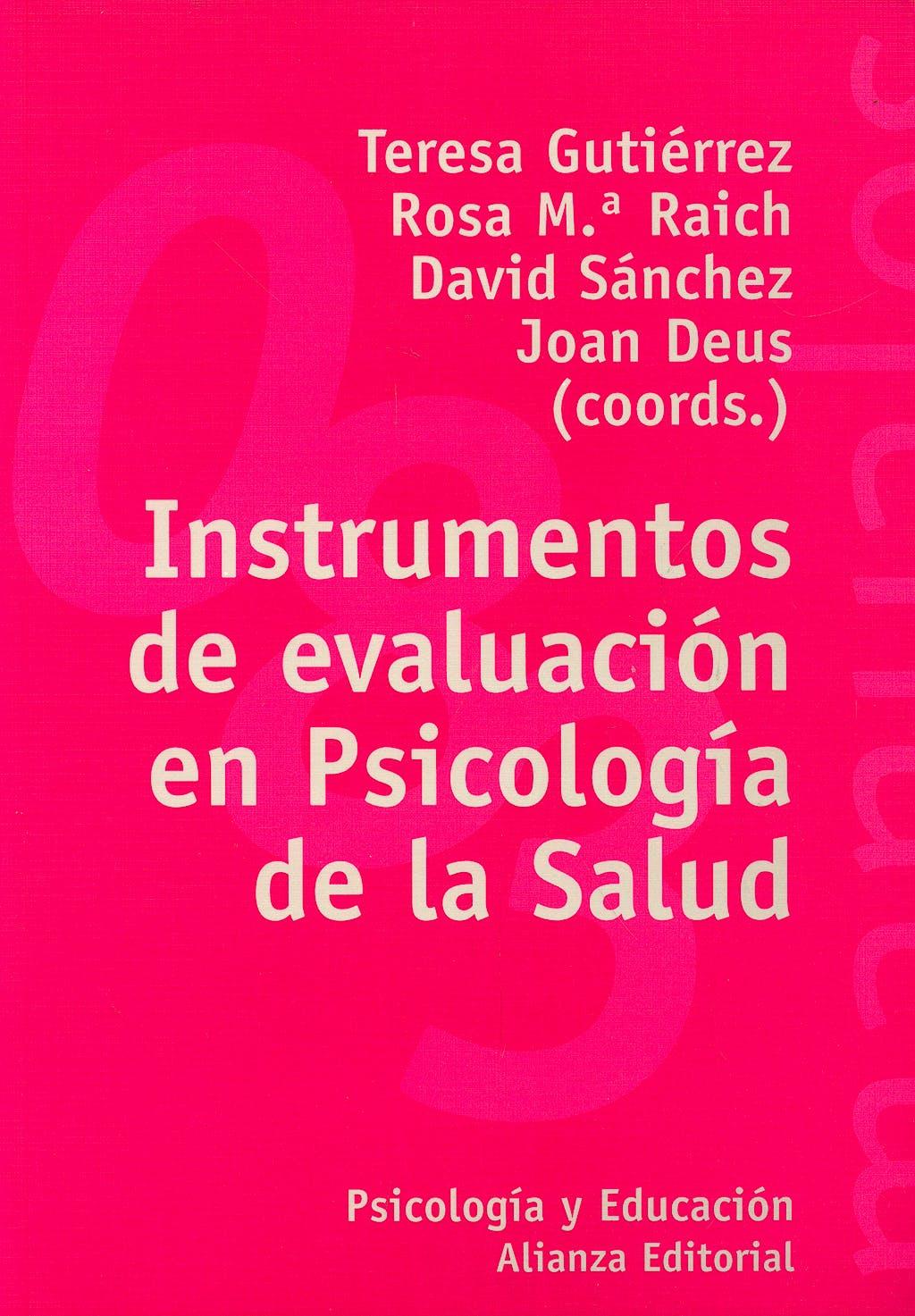 Portada del libro 9788420641690 Instrumentos de Evaluacion en Psicologia de la Salud