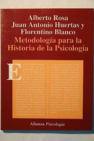 Portada del libro 9788420665429 Metodología para la Historia de la Psicología