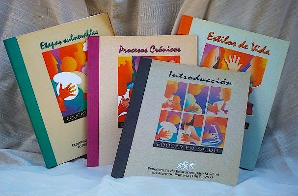 Portada del libro 9788423518081 Educar en Salud, 4 Vols. Experiencias de Educacion para la Salud en Atencion Primaria (1987-1997)
