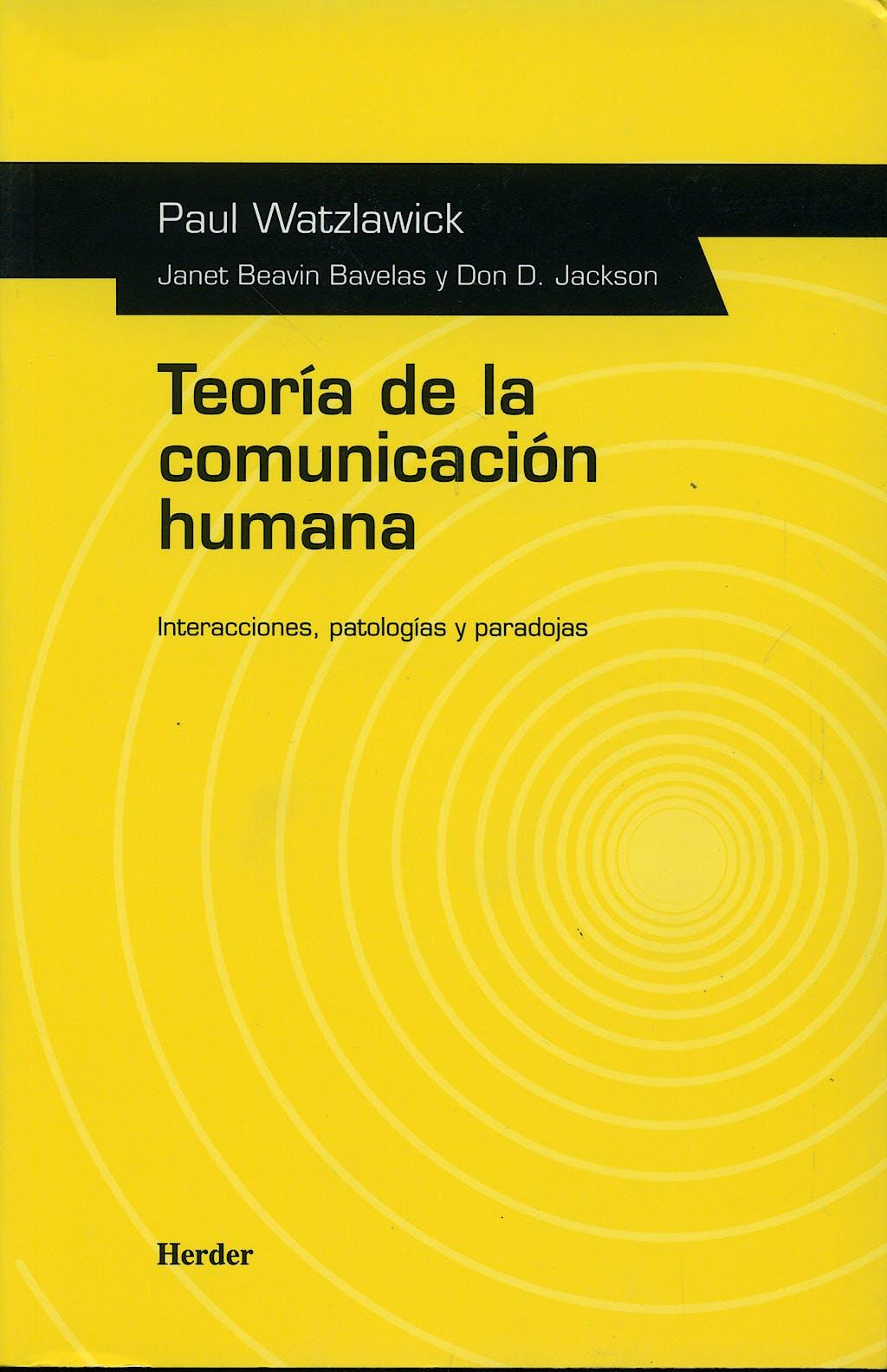 Portada del libro 9788425412059 Teoria de la Comunicacion Humana