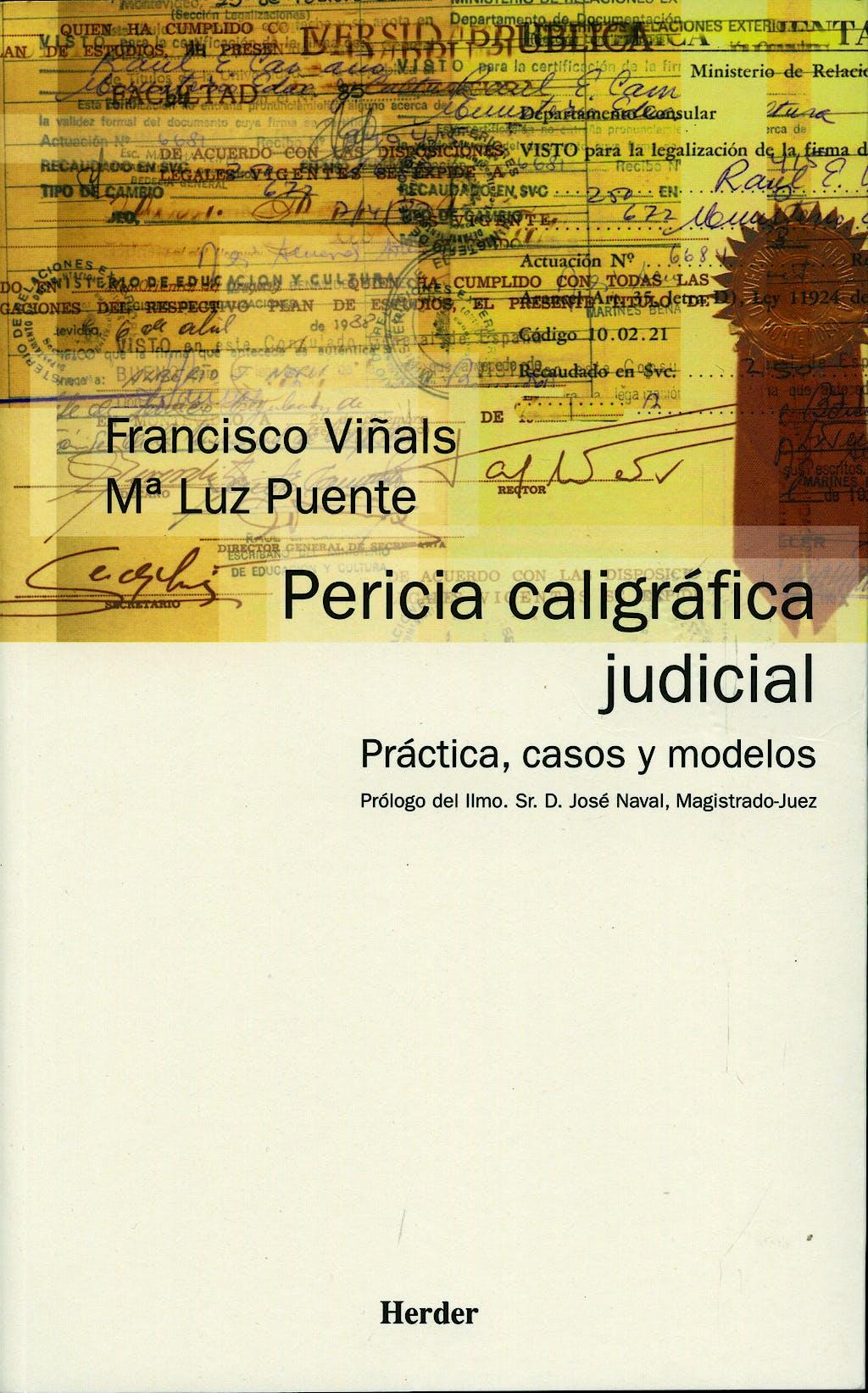 Portada del libro 9788425421792 Pericia Caligrafica Judicial