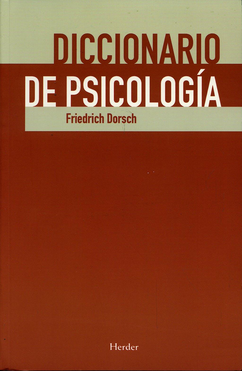 Portada del libro 9788425425745 Diccionario de Psicologia