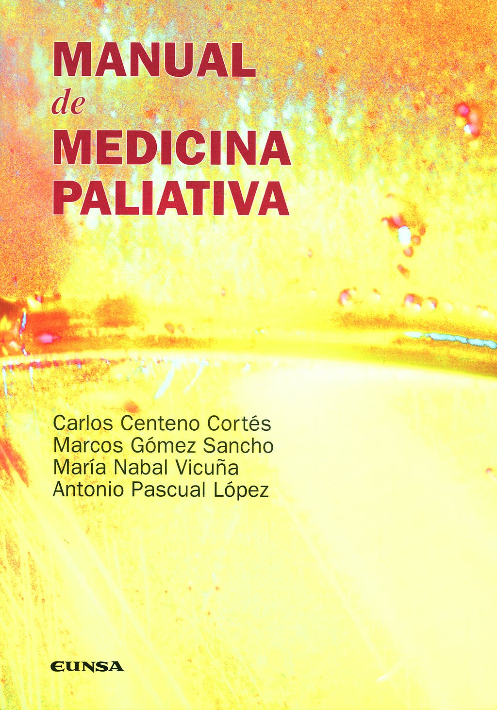 Portada del libro 9788431326531 Manual de Medicina Paliativa