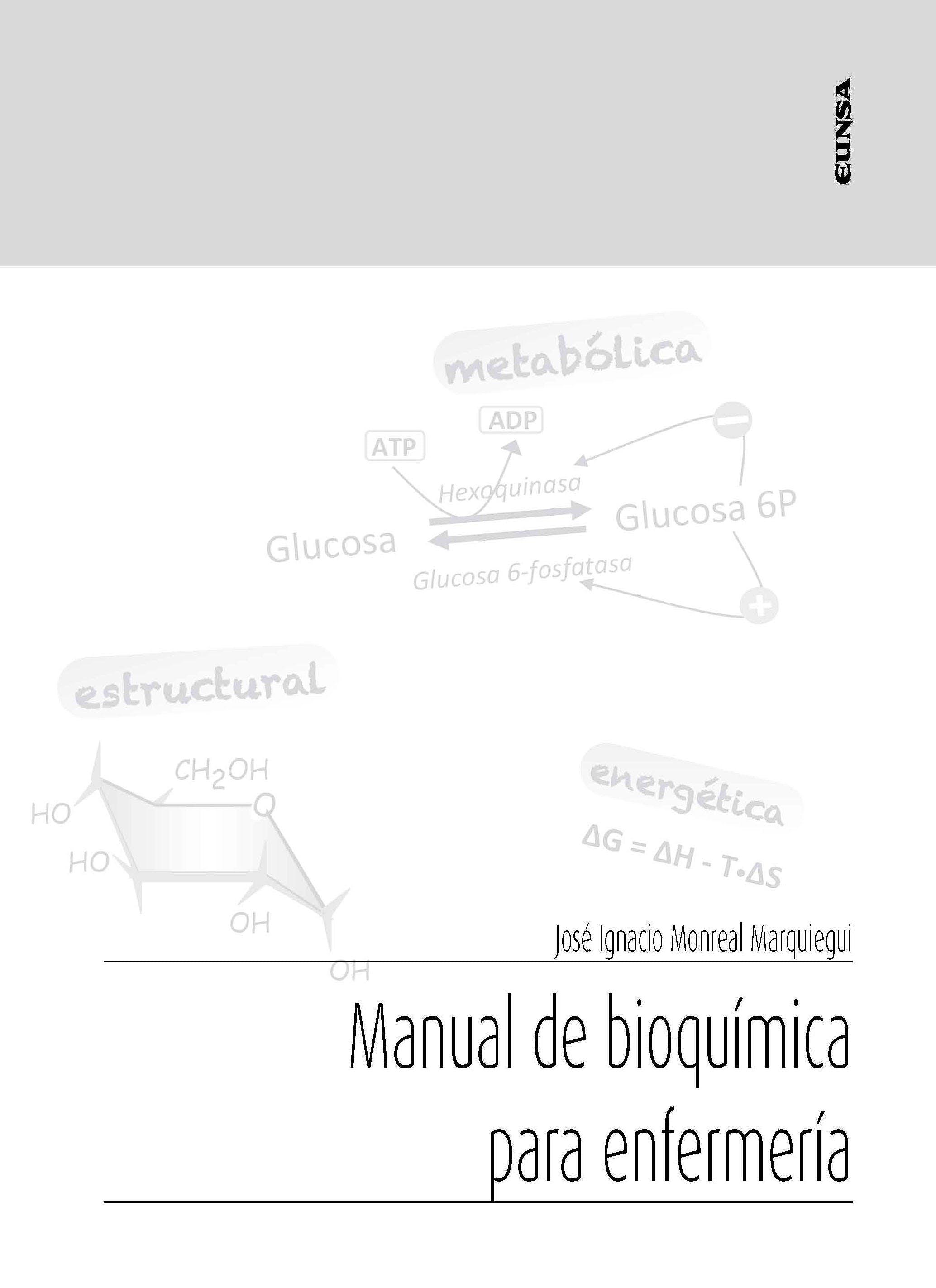 Portada del libro 9788431334147 Manual de Bioquímica para Enfermería