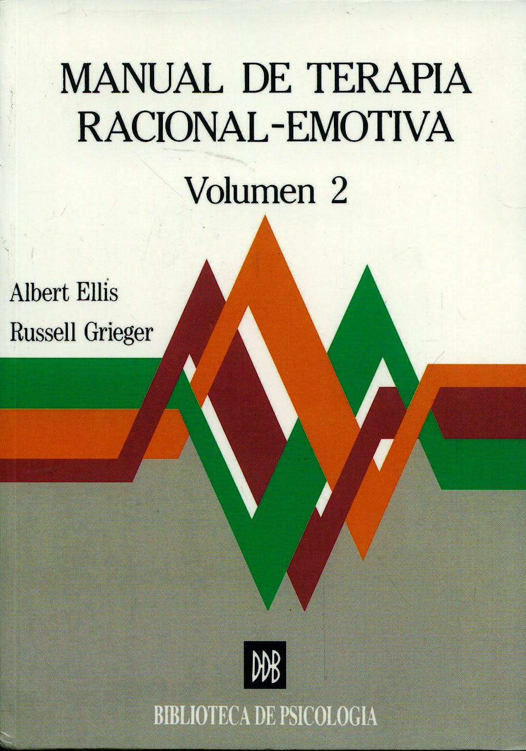Portada del libro 9788433008244 Manual de Terapia Racional-Emotiva, Vol. 2