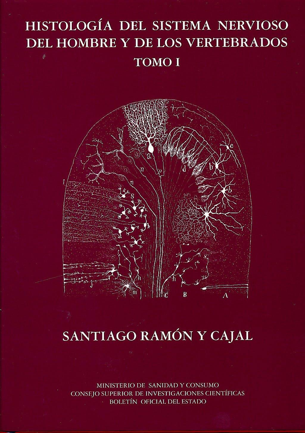 Portada del libro 9788434017221 Histologia del Sistema Nervioso del Hombre y de los Vertebrados, Obra Completa 3 Vols.
