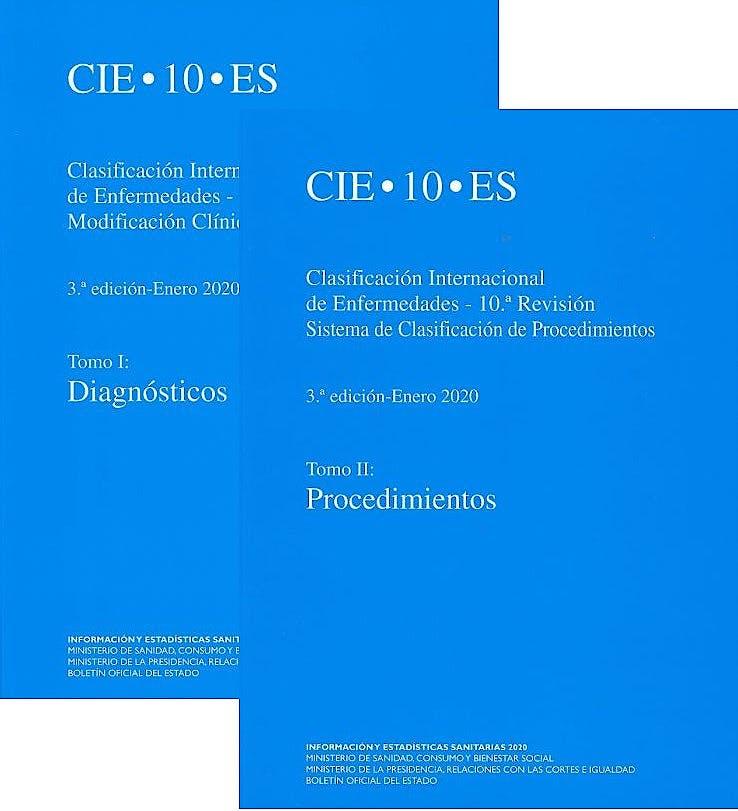 Portada del libro 9788434025929 CIE 10 ES Clasificación Internacional de Enfermedades 10ª Revisión, 2 Tomos